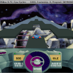 SkyRoads on DOSBox